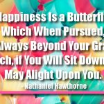 Happiness Is a Butterfly, Which When Pursued, Is Always Beyond Your Grasp, but Which, if You Will Sit Down Quietly, May Alight Upon You.