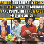 People Share, Read, And Generally Engage More With Any Type Of Content When It's Surfaced Through Friends And People They Know And Trust