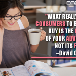 What Really Decides Consumers To Buy Or Not To Buy Is The Content Of Your Advertising, Not Its Form