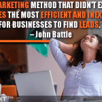 Search, A Marketing Method That Didn't Exist A Decade Ago, Provides The Most Efficient And Inexpensive Way For Businesses To Find Leads